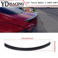 Per Tesla Model S Spoiler All Sedan 2012-2017 Fibra di carbonio Glossy Black Spoiler posteriore Ali per tronco Lip Car-Styling