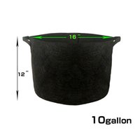 Wholesale Fabric Grow Pots Gallon - 10 Gallon Durable Black Grow Bag with Handles Nonwoven Fabric Grow Pots Soft-Sided Breathable Container