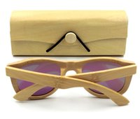 Wholesale Sky Sunglasses - IVSTA Natural Square Bamboo box for Wood Sunglasses Bambu case Laser logo Custom Wooden cases Handcrafted maderia VB0478 free logo custom