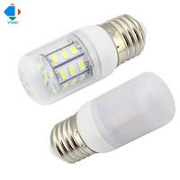 Wholesale 12v Led E27 Corn Bulbs - 5x lampada led 12v corn bulb 24v bulbs light smd 5730 27leds E27 high bright Transparent shell Frosted Cover white energy saving