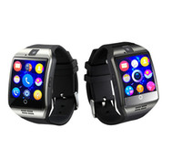 Wholesale Cheapest Silver Watch - Cheapest Bluetooth Watch phone Smartphone built in GSM with sim card slot touch screen Camera Smart watch Q18 for Android and IOS phone