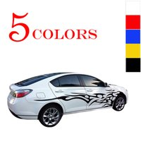 Wholesale black auto vinyl - 1pair! Universal Fashion Car Sticker Decals Fire Flame Decor Vinyl Decoration Stickers Auto Truck Styling for The Whole Car Body CEA_30M