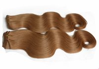 Wholesale European Hair Extentions - 2017 cheap 3pcs lots brown Europea Body wave virgin hair extentions Dyed virgin hair free shipping no shedding