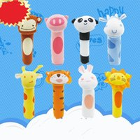 Wholesale t h wholesale - T type Pet Toys High Quality Sound Plush Bell Many Styles Teddy Cartoon Dogs Favorite Sound High Quality 4 5jt H R