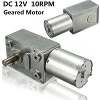 Wholesale 12v Dc Motor Worm - XNEMON 12V 10Rpm Reversible High Torque Turbo Worm Geared Motor DC Motor Tools JGY370 New Arrival