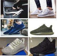sport knit fabrics - 2017 With box Tubular Shadow Knit Running Shoes for men and women Tubular Shadow D Sneaker sports Shoes boost Boosts sneakers eur36