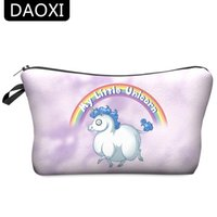 Atacado- DAOXI Little Unicorn Cosmetic Bags 3D Printing Make Up Organizador Fashion Storage for Women 10013