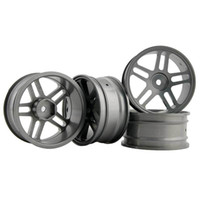 Wholesale rc car rims drift - RC Aluminum Wheel 4pc D:52mm W:26mm Fit HSP HPI 1:10 On-Road Drift Car Rim 122T