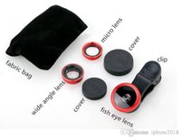 Wholesale Tripod Macro - TOP High quality Lens photo Clip Kit Set Fisheye Lens Wide Angle Macro Lens for iPhone 5 6 7 Samsung Smart Phone
