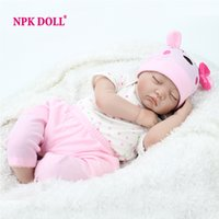 Wholesale Doll Eyes For Sale - Hot sale 22 Inch Reborn Baby Doll Lifelike Sleeping Silicone Closed Eyes Toys For Girls Kids Fashion Boencas