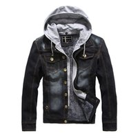 Wholesale good jacket brands - Mens Autumn Coats Denim Jackets Jeans Jackets Hoodies Spring Slim Fit Clothes Overcoat Brand Clothing 2017 Good Quality Warm