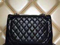 Wholesale Pu Leather Xxl Women - Luxury Classial XXL Plaid Chain Bag Lambskin Double Flaps Bag Women Shoulder Bag Handbag