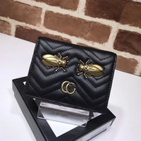 Wholesale Metal Cicada - 2017 New arrival women mini wallet fashion brand designer purse with Metal Golden cicada pattern High quality real leather handbag