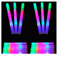 100pcs LED Colorful Rods Led Foam Stick Clignotant Stick Light-Up Cheering Party Glow Flash Stick Foam Wand Concert Prop ZA1123