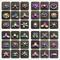 Wholesale 45 Mental Fidget Spinner Hand Toy Alloy Fidgets Rainbow Toys Alloy Hand Spinner Fingertips Spiral Toys New Colorful Fingers Spinner Free DHL