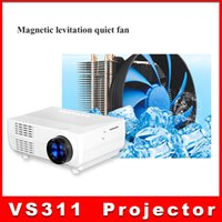 Wholesale Video Projector Cameras - VS311 Digital Mini LED Projector Full HD Multimedia 1080p Mini Projectors LCD For iPhone 5 6s plus iPad MP3 4 Video Camera TV PC DHL ship 10