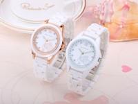 Wholesale Hid Shell - Leisure ladies ceramic watch diamond hidden buckle waterproof fashion watches 2017 new style