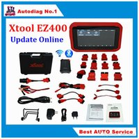 Wholesale Scanners For German Cars - FREE SHIPPING XTOOL EZ400 WiFi Full System Diagnosis For US Asian European Cars Xtool EZ 400 Scanner Tool Update Online Supports Android