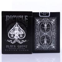 ingrosso carte da gioco nere-1pcs Ellusionist Bicycle Black Ghost Deck Carta magica Carte da gioco Poker Close Up Trucchi magici per mago professionale Carta da collezione
