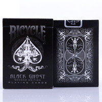 bicycle card al por mayor-Bicycle Ghost Playing Cards Ellusionist Black / White Deck Magic Card Poker Primer plano Trucos de magia Accesorios para mago profesional