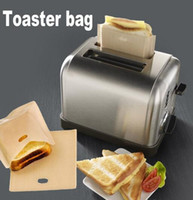 Wholesale sandwiches bags - Non Stick Reusable Heat-Resistant Toaster Bags Sandwich Fries Heating Bags Kitchen Accessories Cooking Tools Gadget