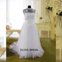 Wholesale Lace Tiered Bolero - Real Photo Classic Strapless Wedding Dress with Illusion Jacket Bolero High Quality Custom Made Tulle Lace Bridal Gown Vestios De Novia
