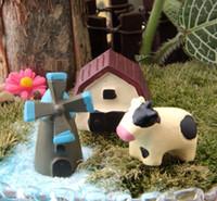 ingrosso giardino fiorito a fiore-Eco Friendly 10sets / 30pcs / Fairy Garden Gnome / bonsai / Flower Pot Bryophytes / decorazione di DIY / Terraium Decoration Lover / Pig Modello