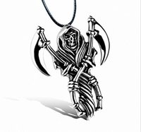 Wholesale Pewter Necklace Pendants - Norse Viking Barbarian Gladiator Medieval Double Axe Shield Pewter Pendant Necklace evil force and talismanic periapt necklace
