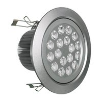 Wholesale High Red Ceilings - Recessed High power Dimmable LED ceiling light 9W 12W 15W 21W 27W 36W LED downlights lighting lamps 110-240V + driver + 3years warranty