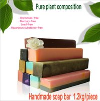 Wholesale Lavender Soaps - Facial Cleaning Soap Face Care Whitening Skin handmade Soap Bar Pure Plant Composition Lavender Seaweed Rose More than 15 styles