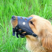 Wholesale Leather Belt Dog Collar - Pet Mouth Cover Skin Bite Proof Dog Cage Case Durable Comfortable Traction Belt Mask Convenient And Quick Easy To Use Leashes CCA6519 80pcs