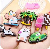 Wholesale animal furniture resale online - New Design Cute animal Fridge Magnet colorful sticker for decoration fridge and furniture mix color cm
