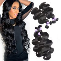 Wholesale 8A Brazilian Body Wave Hair Extensions bundles inch Remy Human Hair Bundles Natural Color