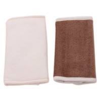 Wholesale Towel Carrier - Wholesale- 2 Pcs Cotton Bibs Burp Cloth Baby Teething Pad Safety Sucking Pad Slobber Towel Straps Dedicated Baby Carrier Saliva Towel