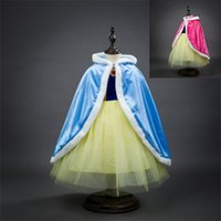 Wholesale Christmas Shawl For Girls - Children Girls Princess Poncho Winter Baby Kids Warm Elsa Anna Cloak Cape Shawl For Dresses Cosplay Christmas Outwear Clothing C2270
