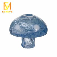champignon carb achat en gros de-Glow In Dark Champignon en verre coloré Bouchons Carb pour 4mm Domeless Banger Nail Plat Bol Enail