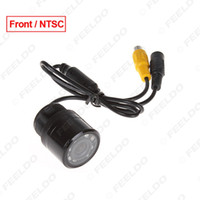 Discount color camera ntsc - FEELDO Car Auto 28mm 170 Degree Front View Color Night Vision Car Camera With IR LED Light NTSC #1366