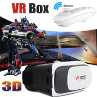 Wholesale Virtual Video Goggles Glasses - VR BOX Version 3D VR Gamepad Virtual Reality Headset Google Cardboard 3D Goggles Video Movie Game Glasses For Smartphone With Retail Package