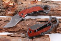 Vente en gros Fox X62 5CR15MOV Poignée en bois Folding Pocket Knife Karambits Camping Flip Knife Fade Survival Outdoor Gear F946L
