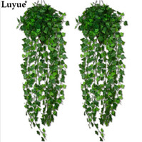 Wholesale Artificial Flowers Pieces - Luyue 1 Piece Artificial Ivy Leaf Garland Plants Vine Fake Foliage Flowers Home decor 7.5 feet