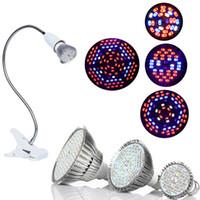 led flexible crece la luz al por mayor-Luz de crecimiento de LED con clip de soporte de lámpara flexible E27 de 360 grados Luz de crecimiento de plantas LED para plantas de interior o de escritorio y carpas hidropónicas