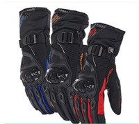 Wholesale Men Motorcycle Brand - Free shipping Brand Men motocross Full finger Carbon fiber gloves ventilate leather racing motorcycle cycling gloves moto gloves
