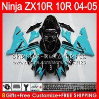 Wholesale kawasaki ninja for sale - 8Gifts Colors Body For KAWASAKI NINJA ZX1000C ZX R NO99 Cyan black ZX10R ZX1000 C ZX R ZX R Fairing kit