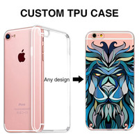 Wholesale Iphone 5s Clear Soft Case - Custom Phone Case for iPhone 7 logo Printed Soft TPU OEM DIY for iPhone 5 5s 6 6s 7 Plus 8 Custom cases