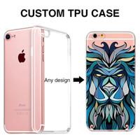 Wholesale Iphone 5s Apple Logo - Custom Phone Case for iPhone 7 logo Printed Soft TPU OEM DIY for iPhone 5 5s 6 6s 7 Plus 8 Custom cases