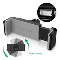 универсальная подставка оптовых-Ugreen Универсальный автомобильный держатель телефона вентиляционное отверстие крепление GPS стенд 360 регулируемый держатель мобильного телефона для iPhone 5 6 Plus Samsung S6 HTC
