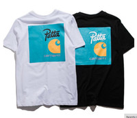 Wholesale Tees Half Sleeves - Europe street fashion brand Patta cotton short sleeved T-shirt and loose cotton tee half sleeve T-shirt lovers
