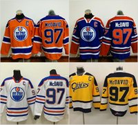 Wholesale Cheap Patches Wholesale - #97 Connor McDavid Jerseys Edmonton Oilers Men's 100% Stitched Embroidery Logos Captain C Patch Hockey Jerseys Cheap Mix Order S-3XL