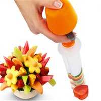 Wholesale Carving Fruit Vegetables Tools - 1Set Fruit Salad Carving Vegetable Fruit Arrangements Smoothie Cake Tools Kitchen Dining Bar Cooking Accessories Supplies
