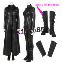 free vampire movie NZ - Underworld Blood Wars The Vampire Warrior Selene Cosplay Costume Hot Movie COS Outfit For Halloween Part Any Size Free Shipping